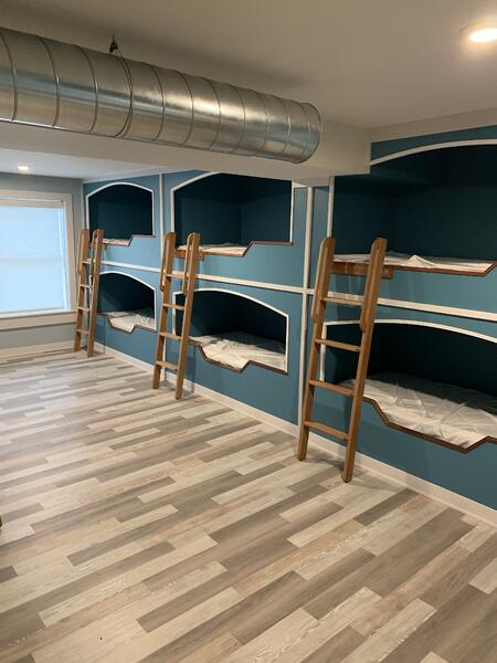 The recent renovation of the Inland Seas Education Association facility includes the addition of dormitory-style living quarters to serve students, groups, and adults attending ISEA programs.