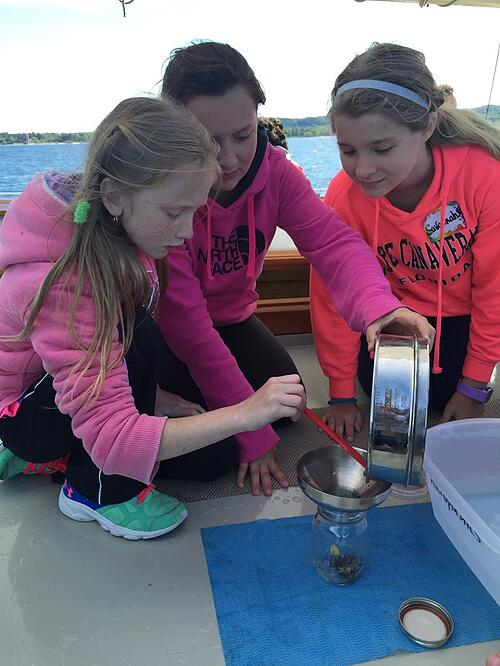 Students gain a unique insight into the basic ecology of the Great Lakes by becoming scientists for the day.